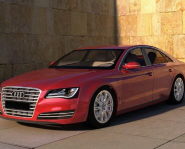 An Audi executive car