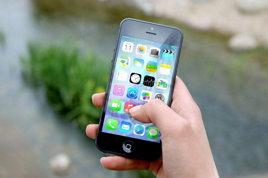 An iphone home screen