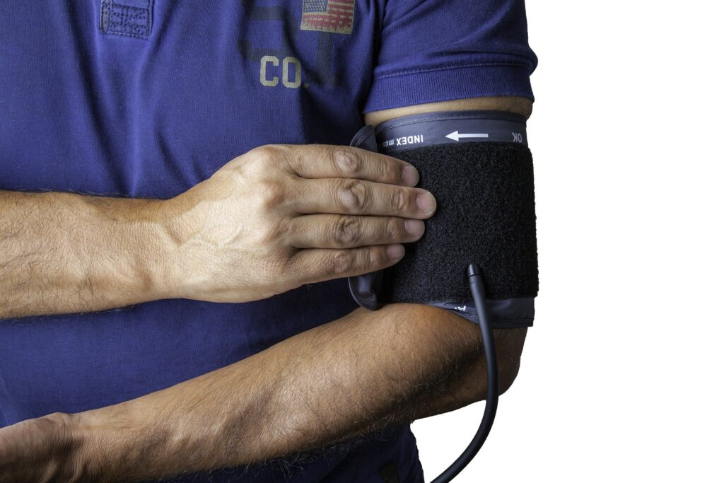 Wearing a blood pressure monitor