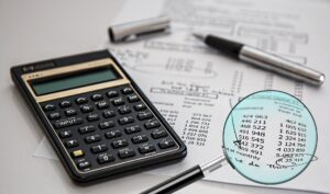 A calculator used for financial analysis