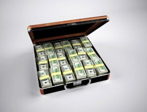 A case full of money