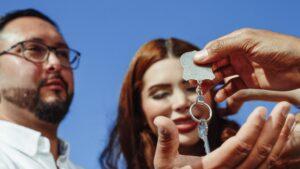 Handing over house keys