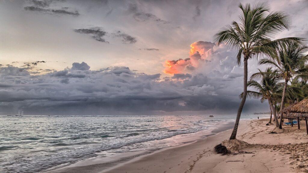 A idyllic beach