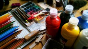 Artistic painting materials