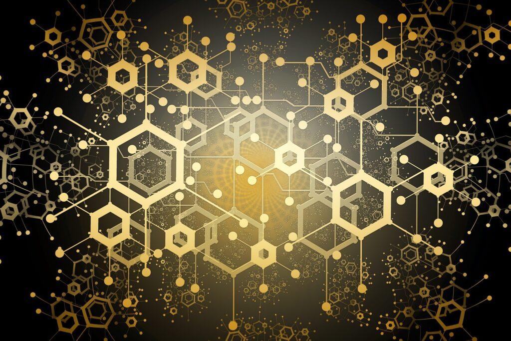 A block chain data concept