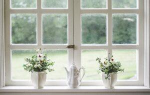 A cottage window