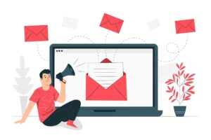 An email marketing graphic