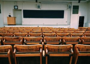 An empty lecture theatre