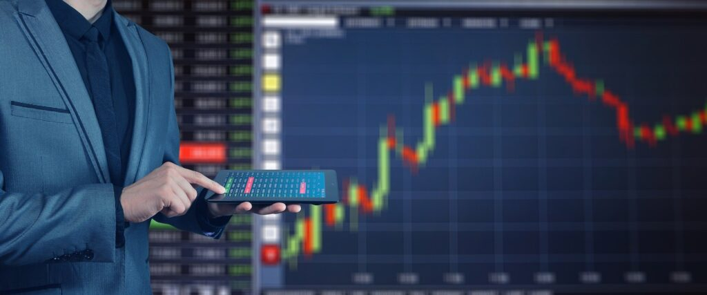 Trading with an ipad and a computer screen