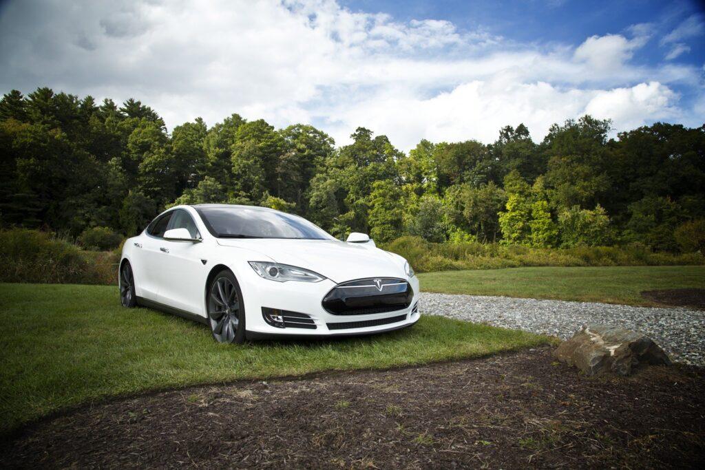 A Tesla electric car