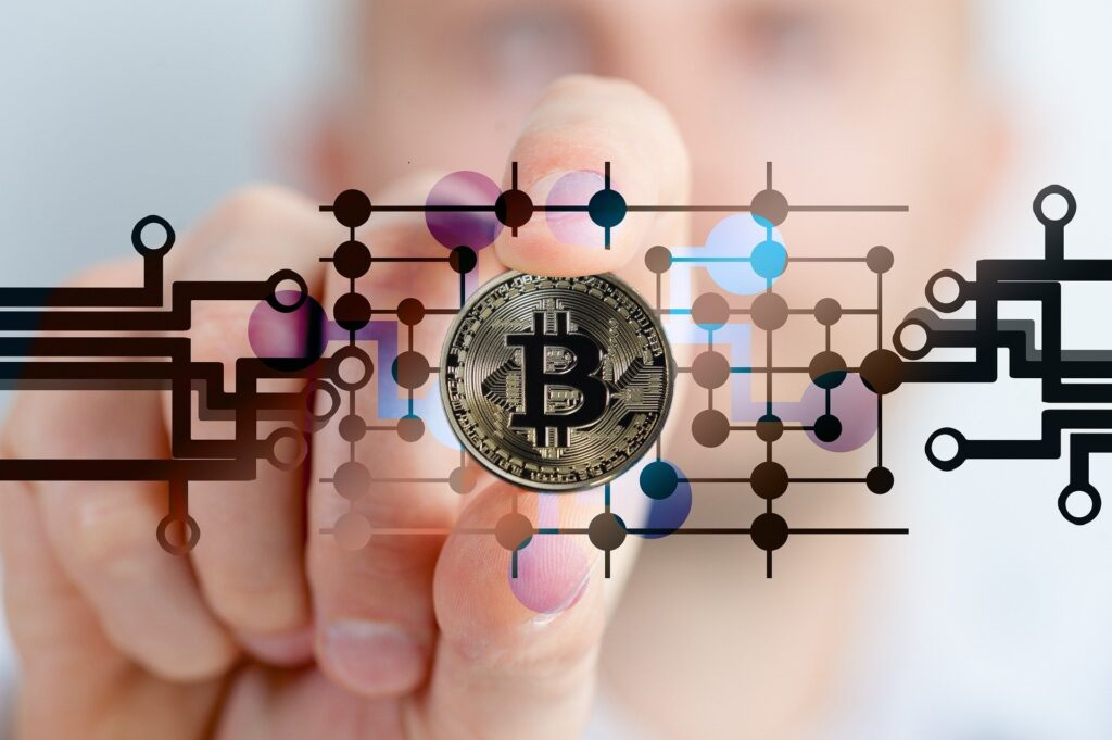 A Bitcoin cryptocurency concept