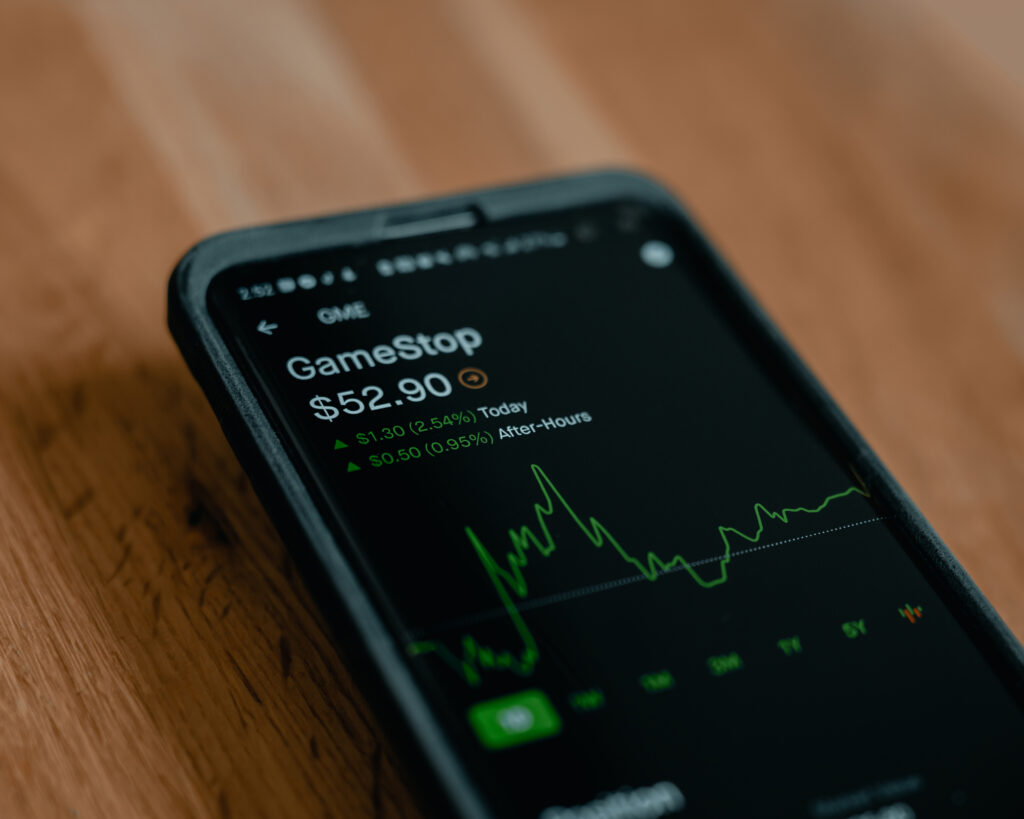 Robinhood investing app on a mobile phone