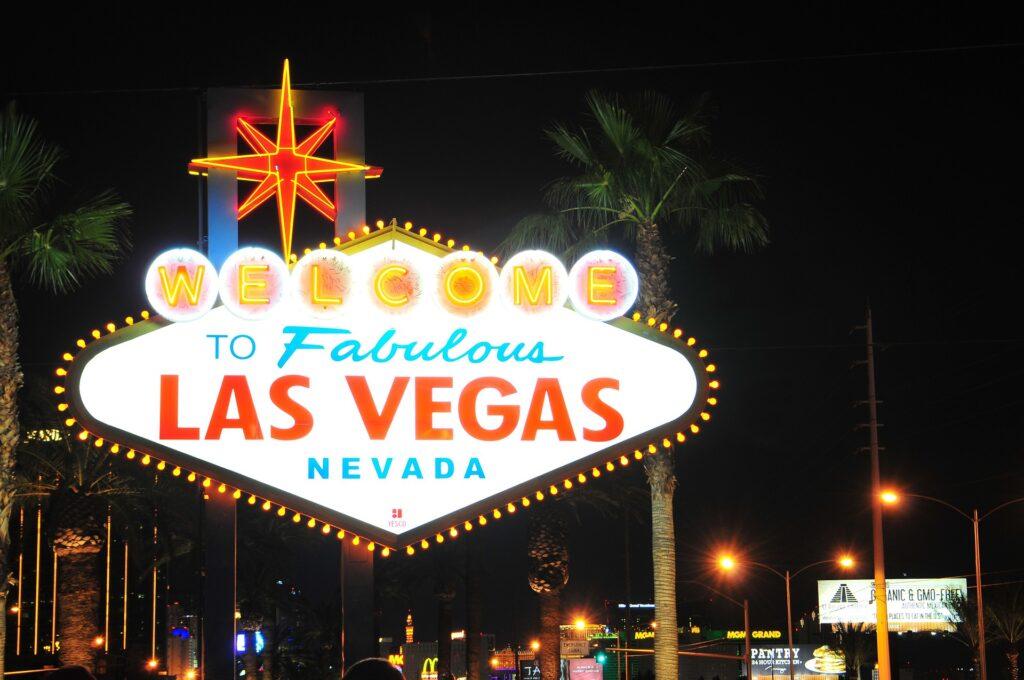Las Vegas sign post in Nevada