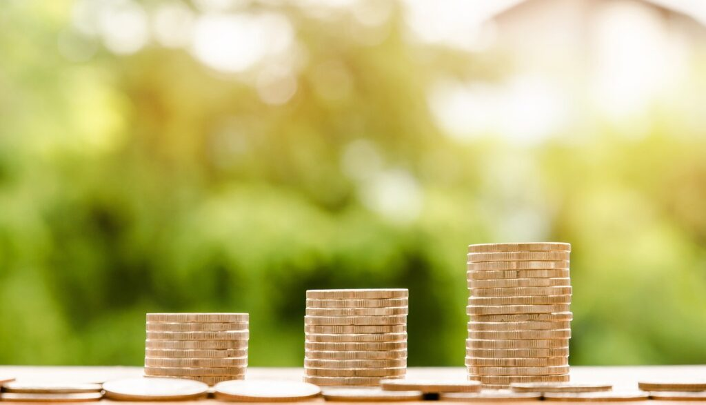 Growing columns of coins - an investing concept