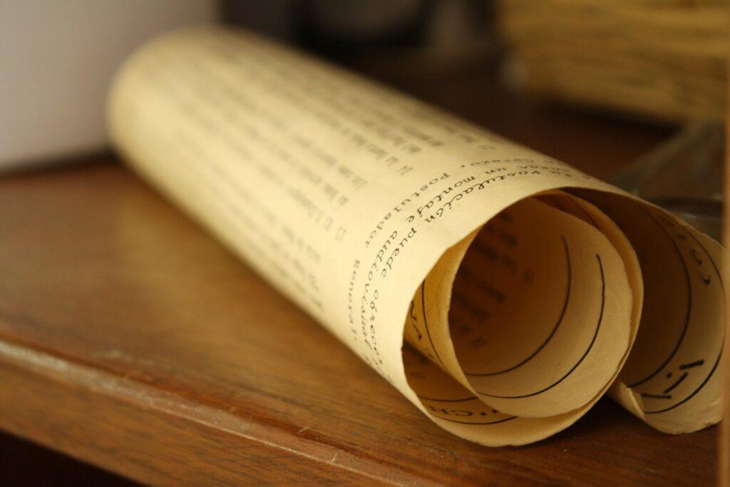 A parchment certificate
