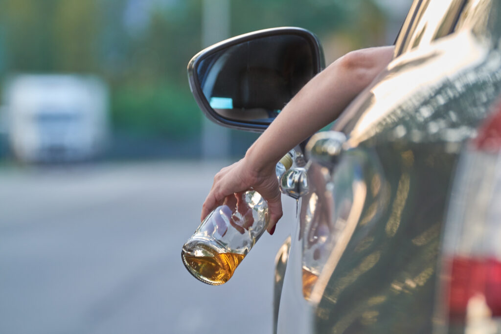 Drinking whisky while driving