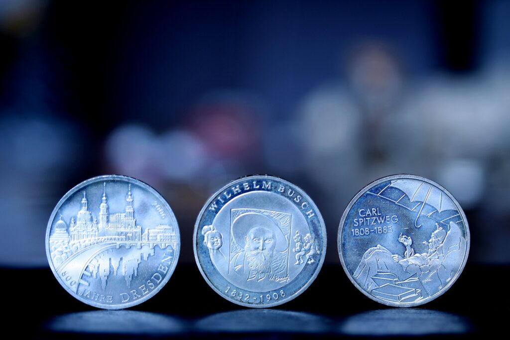Three rare and collectable coins