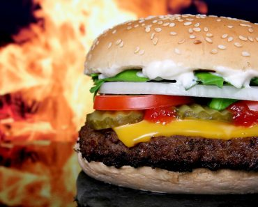 A tasty looking beef burger