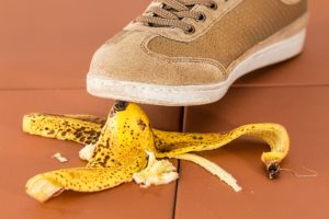 Standing on a banana skin : insurance concept