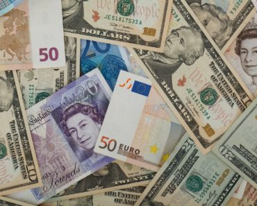 A mixture of foreign exchange currencies