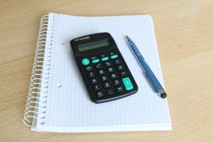 Using a calculator to work out tax bills