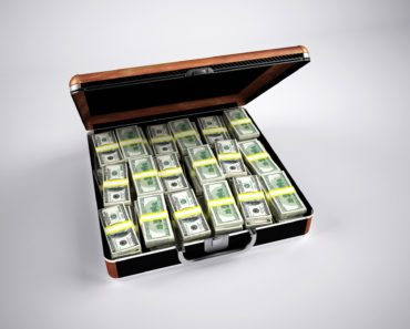 A suitcase full of dollars