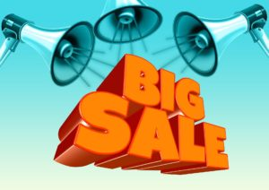 A bargains and sales concept