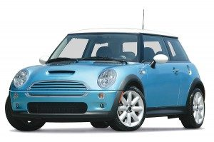 Blue Mini car