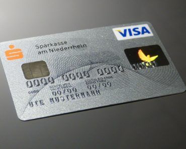 A Visa credit card