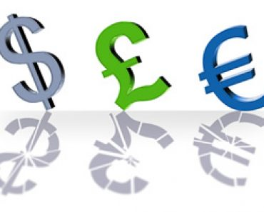 Currency concept - transferring money abroad
