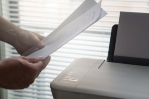 Using a printer