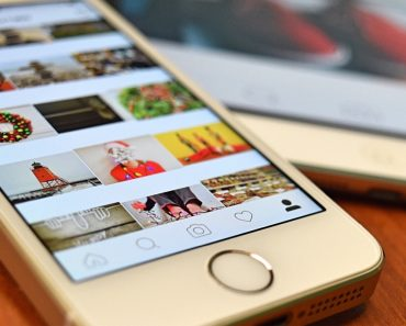 Instagram on a cell-phone