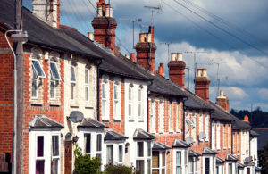 A line of terraced houses in the UK