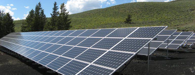 A solar panel array