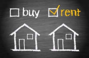 Buying a house vs renting concept