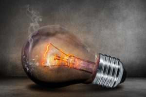 An electric light bulb representing energy