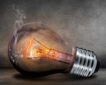 An electric light bulb representing energy