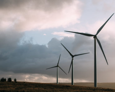 Wind turbines generating renewable electricity
