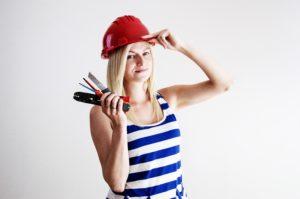 A female electrician