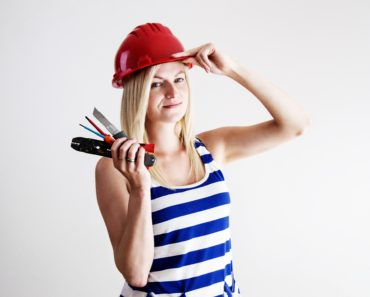 A female electrician