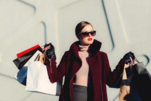 lady buying designer brands