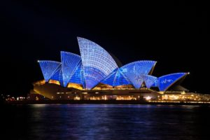 Sydney Opera House, Australia at night
