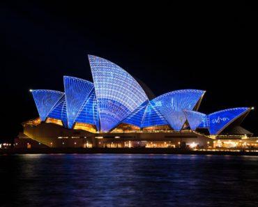 Sydney Opera House, Australia at night