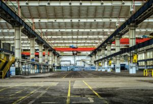 A large empty warehouse