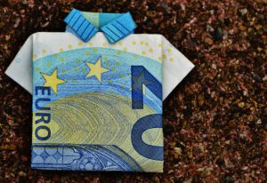 20 Euro note cleverly folded into tee shirt