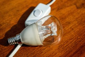 A light bulb and switch