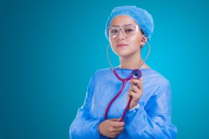 Nurse preparing for cosmetic surgery
