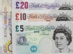 £20, £10 and £5 pound notes