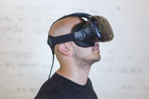 Wearing a virtual reality headset