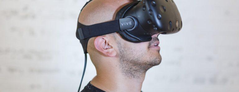 Wearing a virtual reality headset